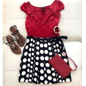 Polka dots I.N.C.  A-line skirt